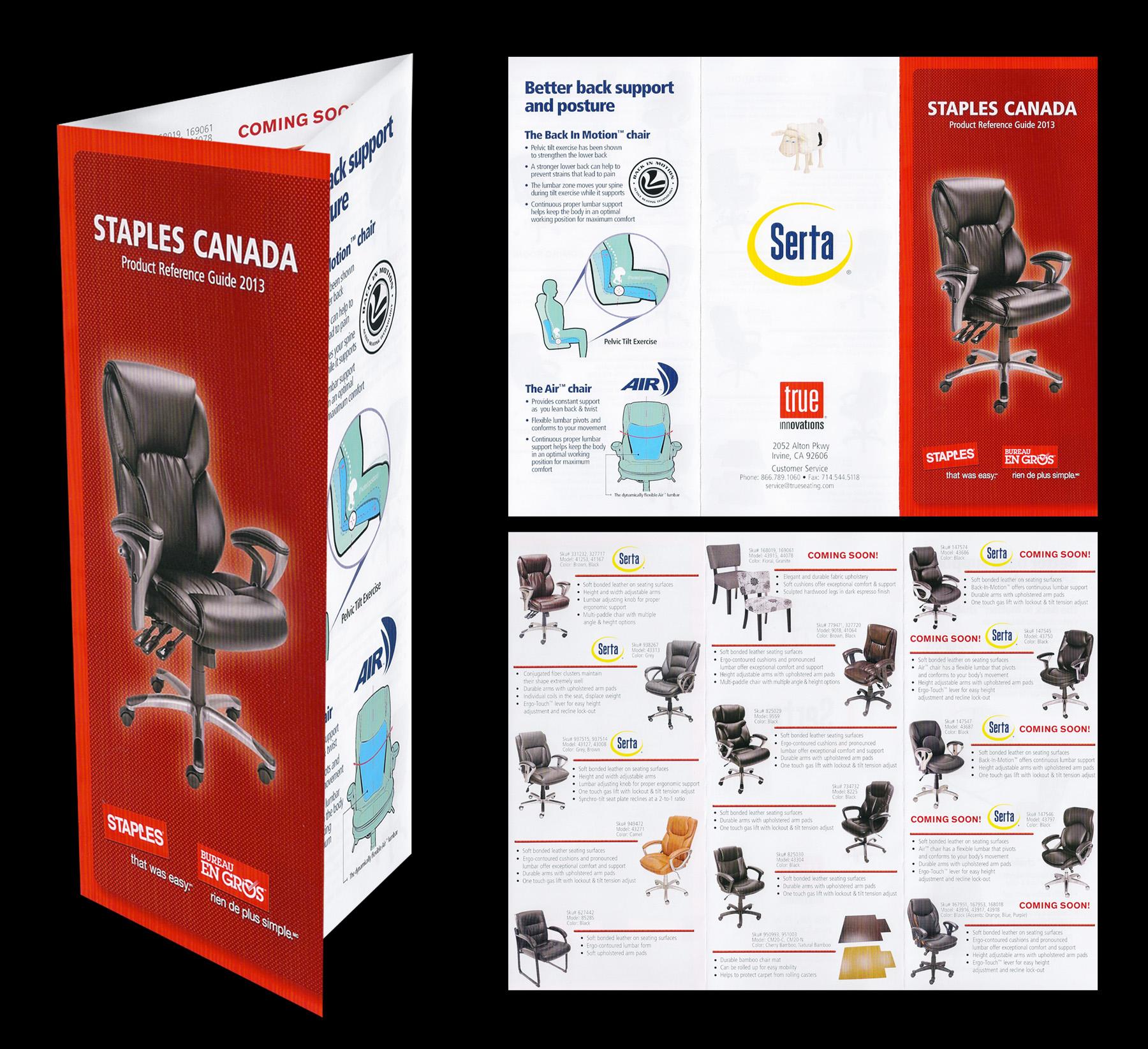 Staples Canada Tri-Fold Brochure