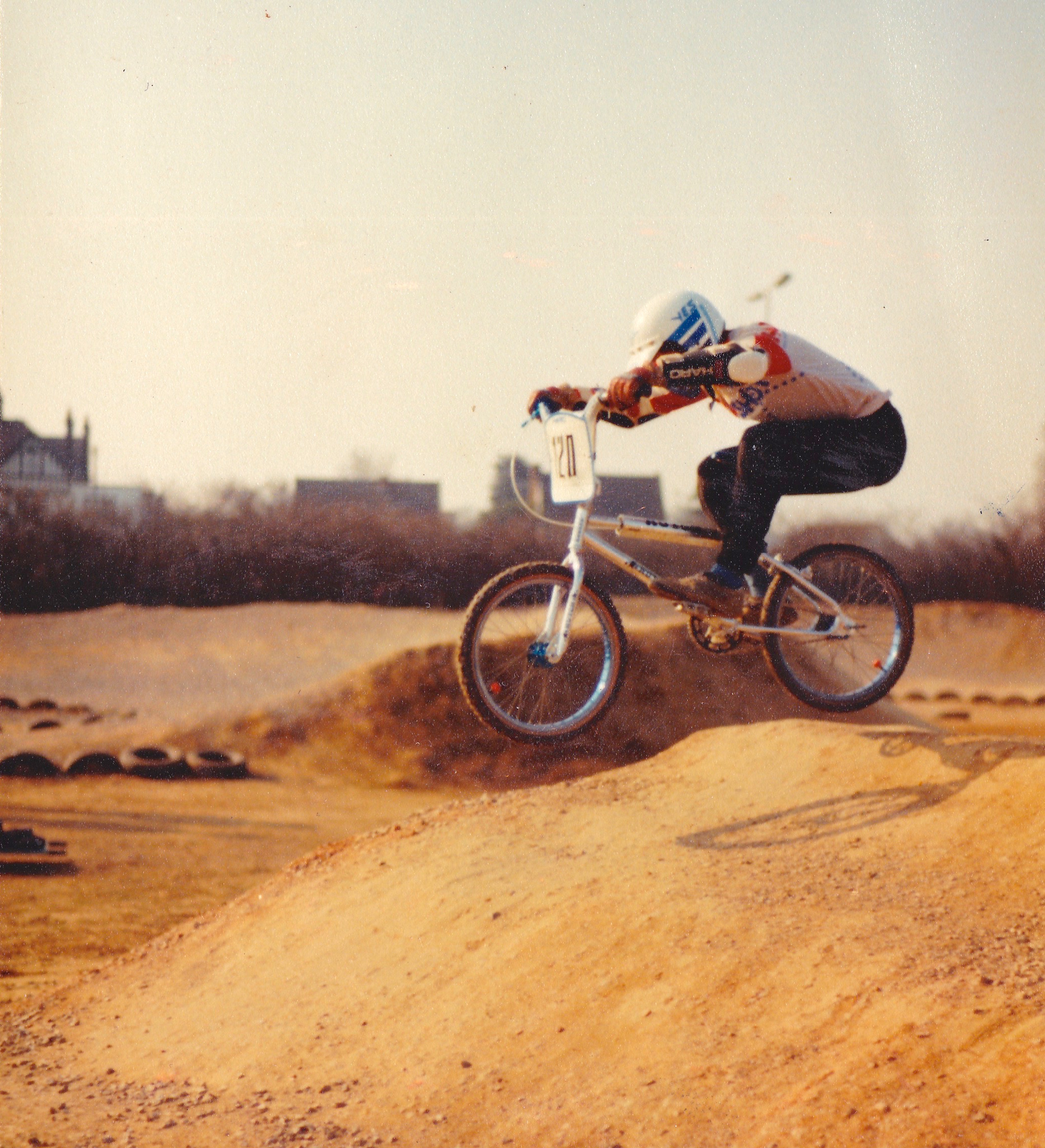Chris Carter competing at Slough's first ever race in 1984.