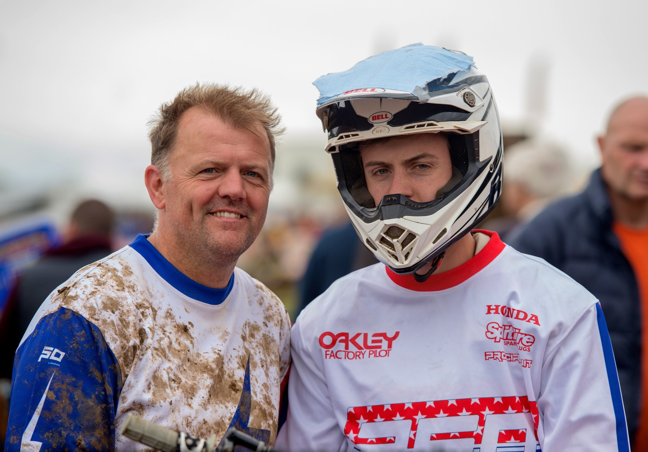 Bradley with his Dad Sean, who also races, what a cool team!