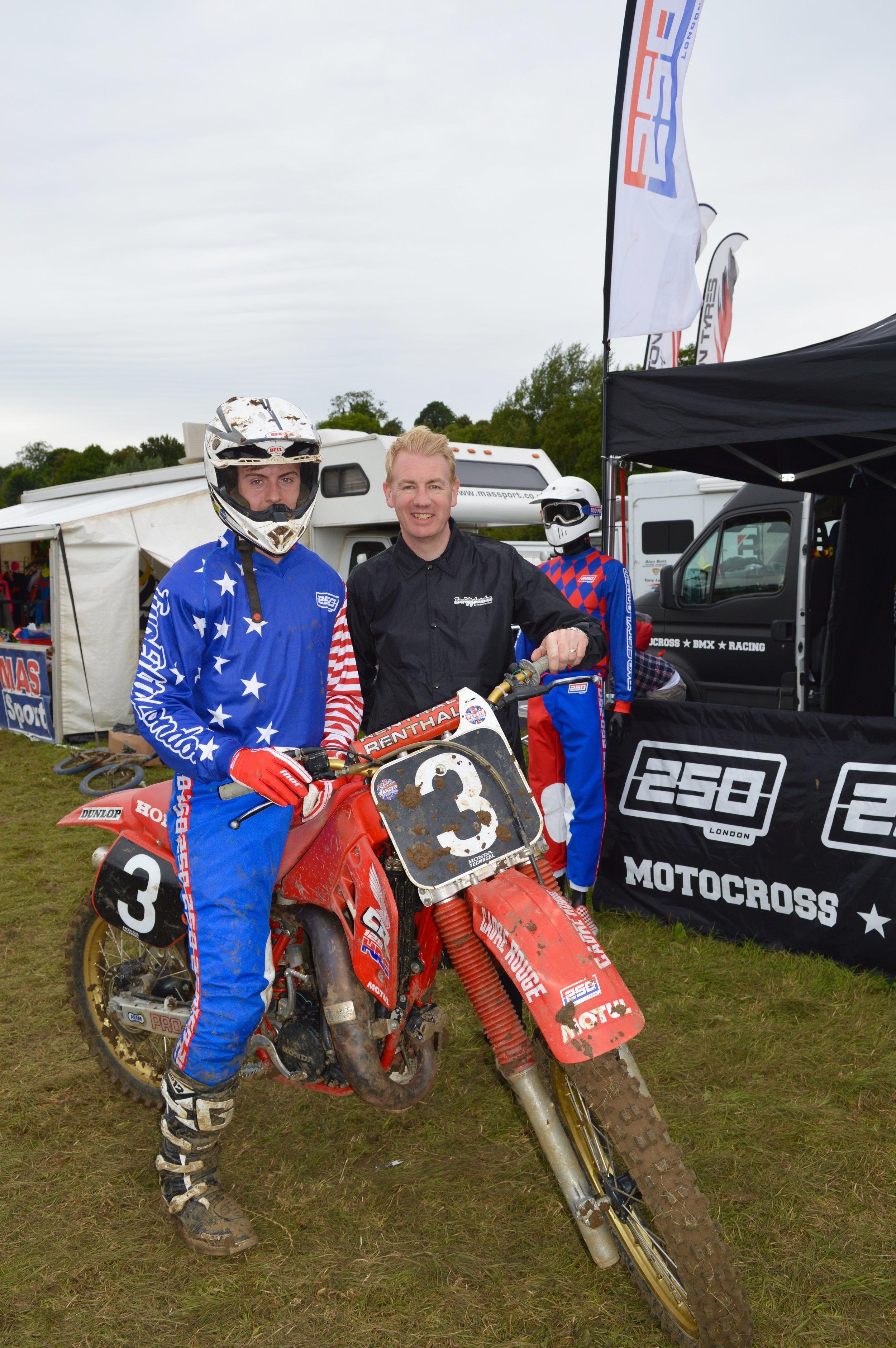 Bradley with Mr 250