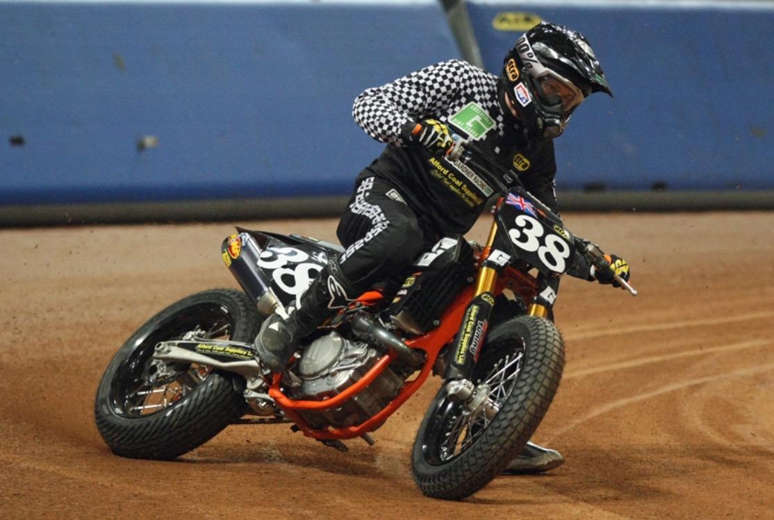 GEORGE PICKERING, riding for 250 at the Superprestigio, Barcelona