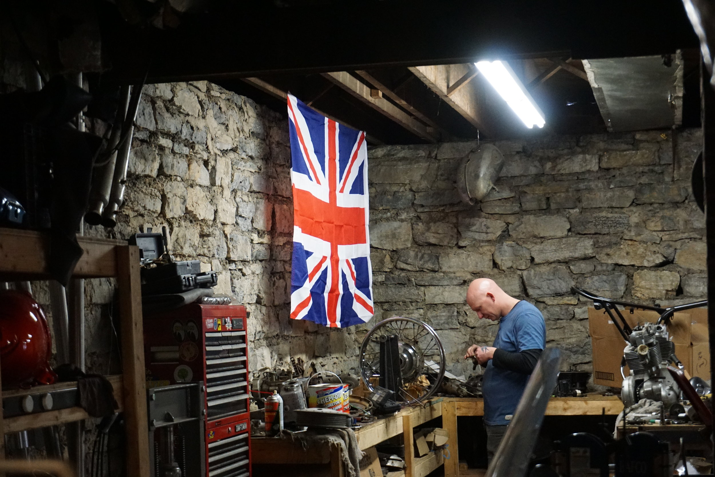 An Englishman in Tennessee, Adam in his workshop at Speed Deluxe