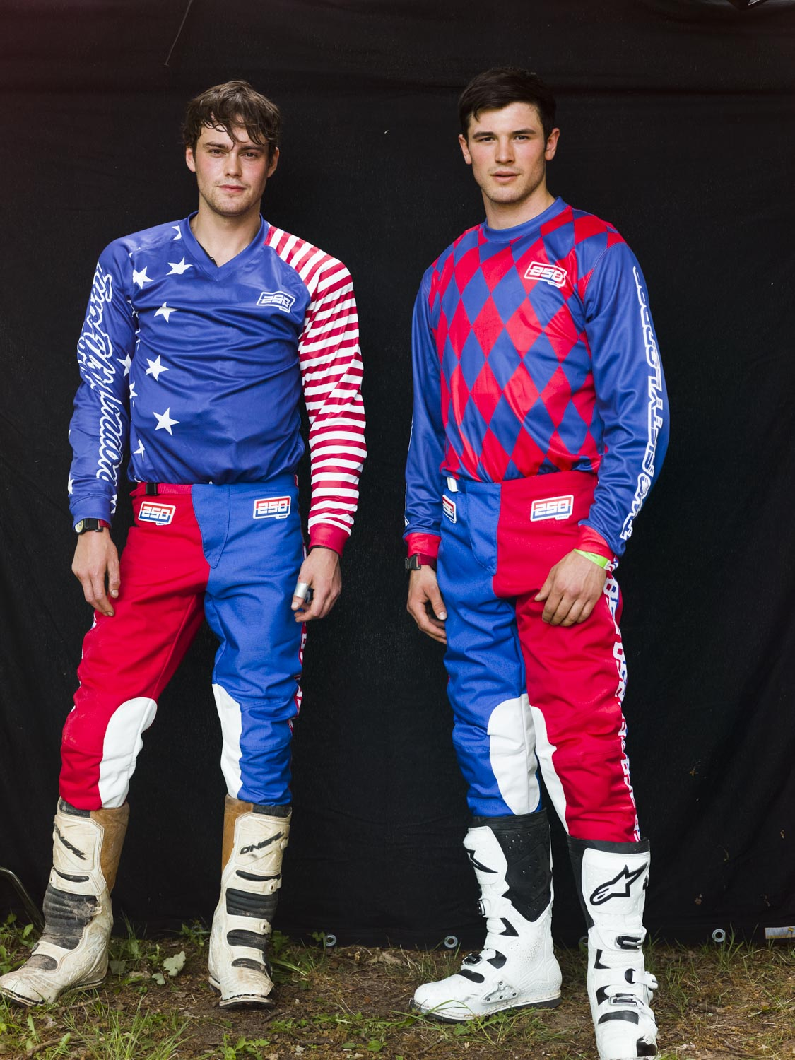 Jacob + Jevan, primed and ready to race... Image by David Goldman