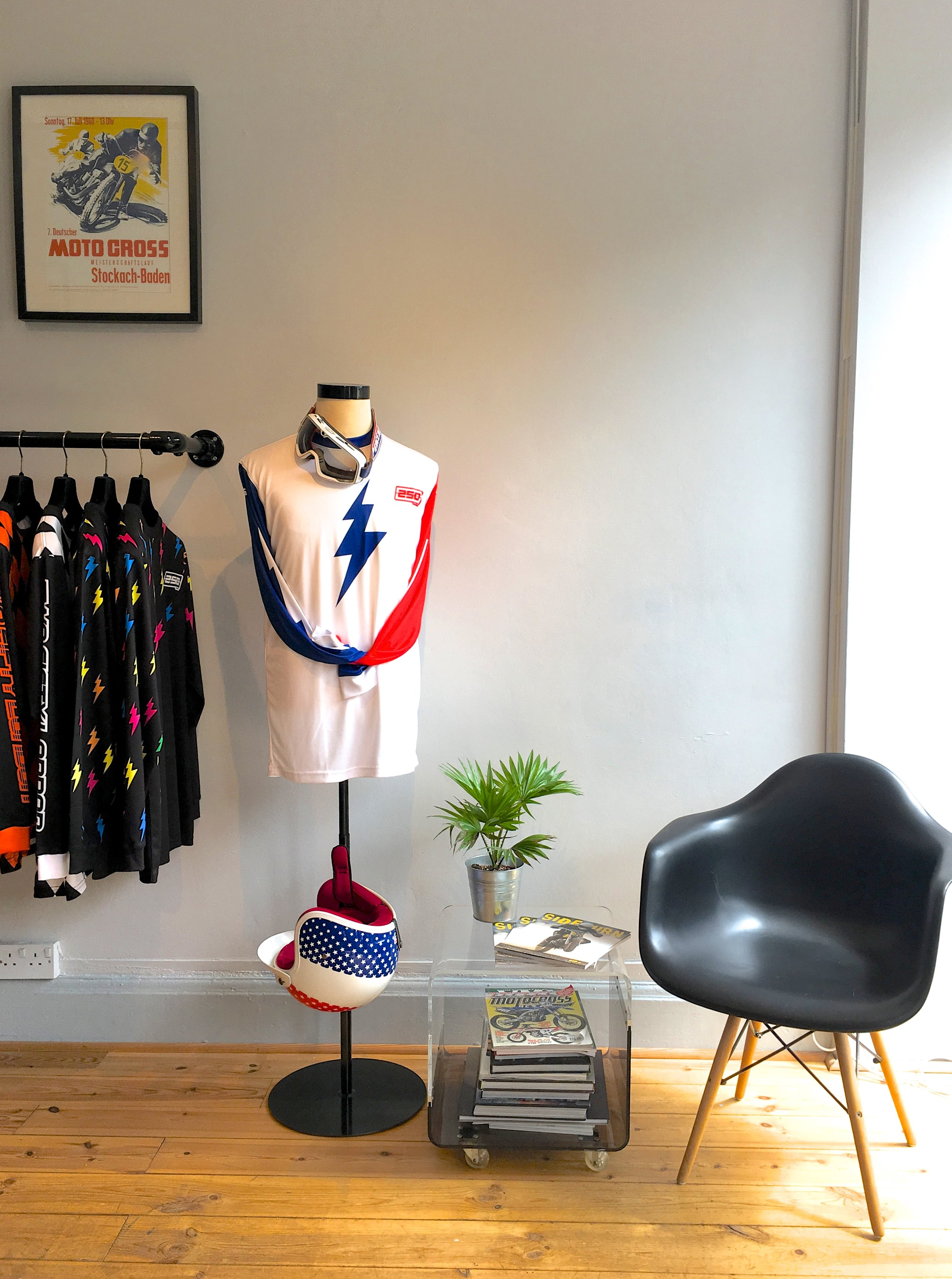 The space is bright and vibrant, reflecting the brand perfectly