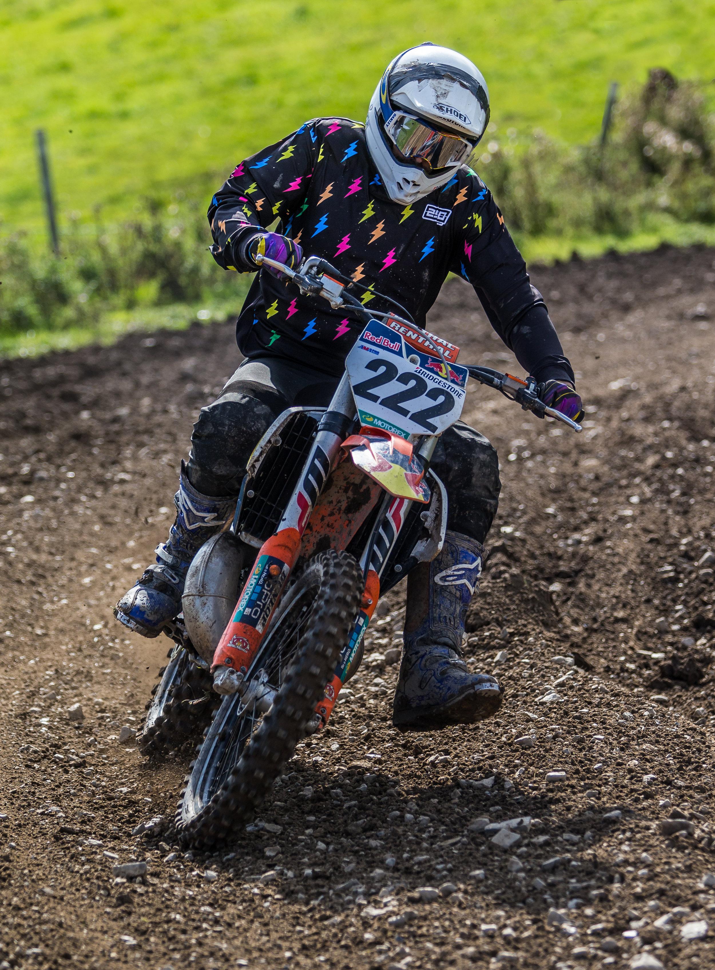 CHRIS CZORA, racing at Brymbo MX