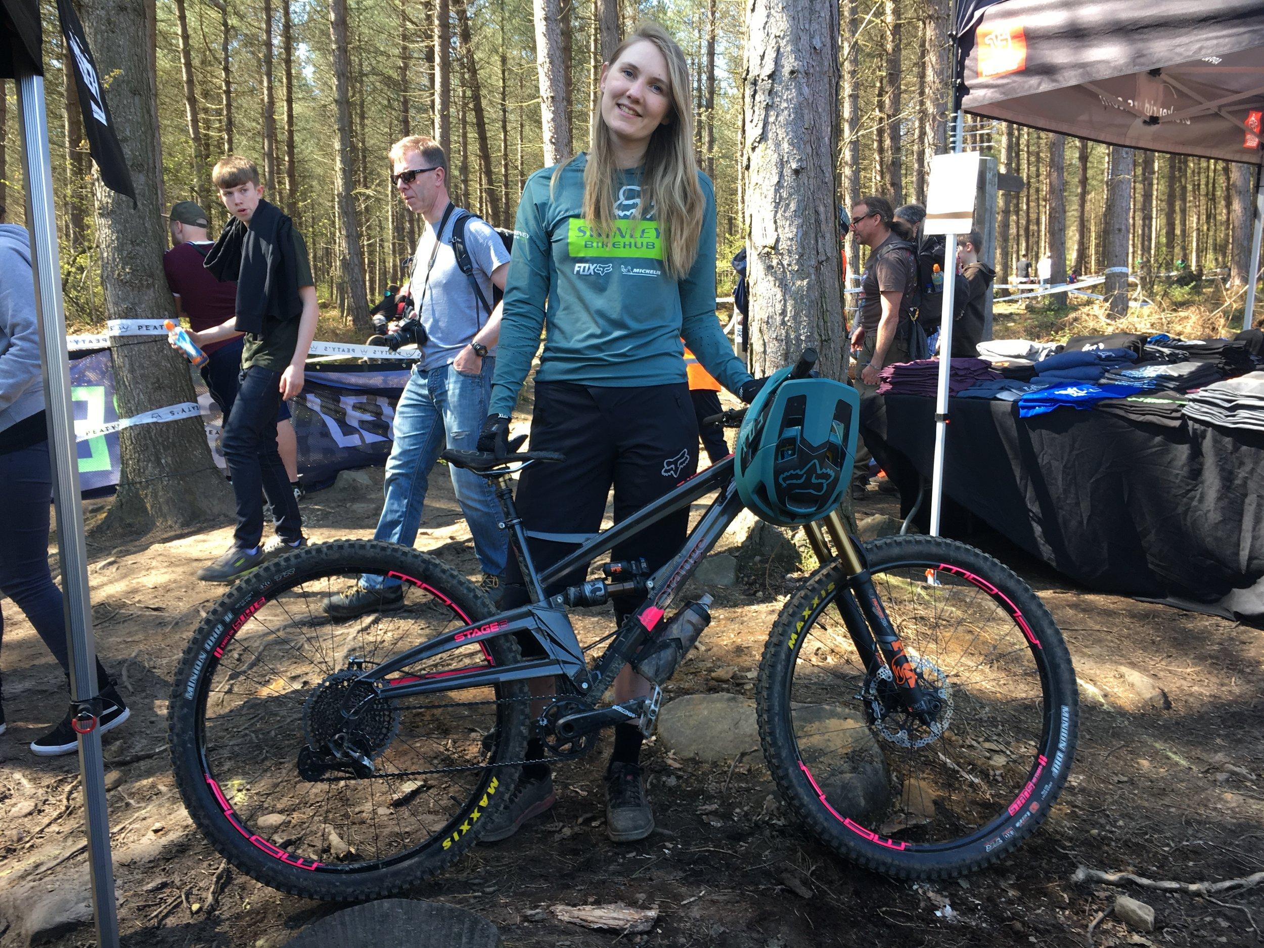Emma's got a nice new bike!