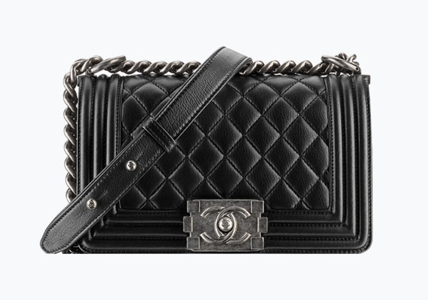 This small Chanel Boy bag in metallic calfskin retails for $4,000. Photo by Chanel.