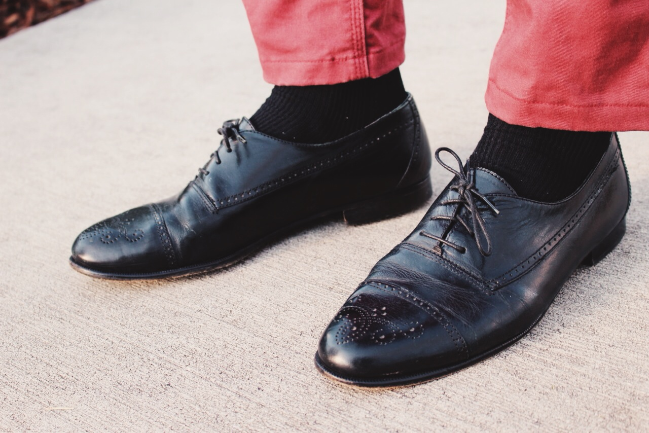 These Alfani black leather oxfords are a classic staple that are both simple and versatile.