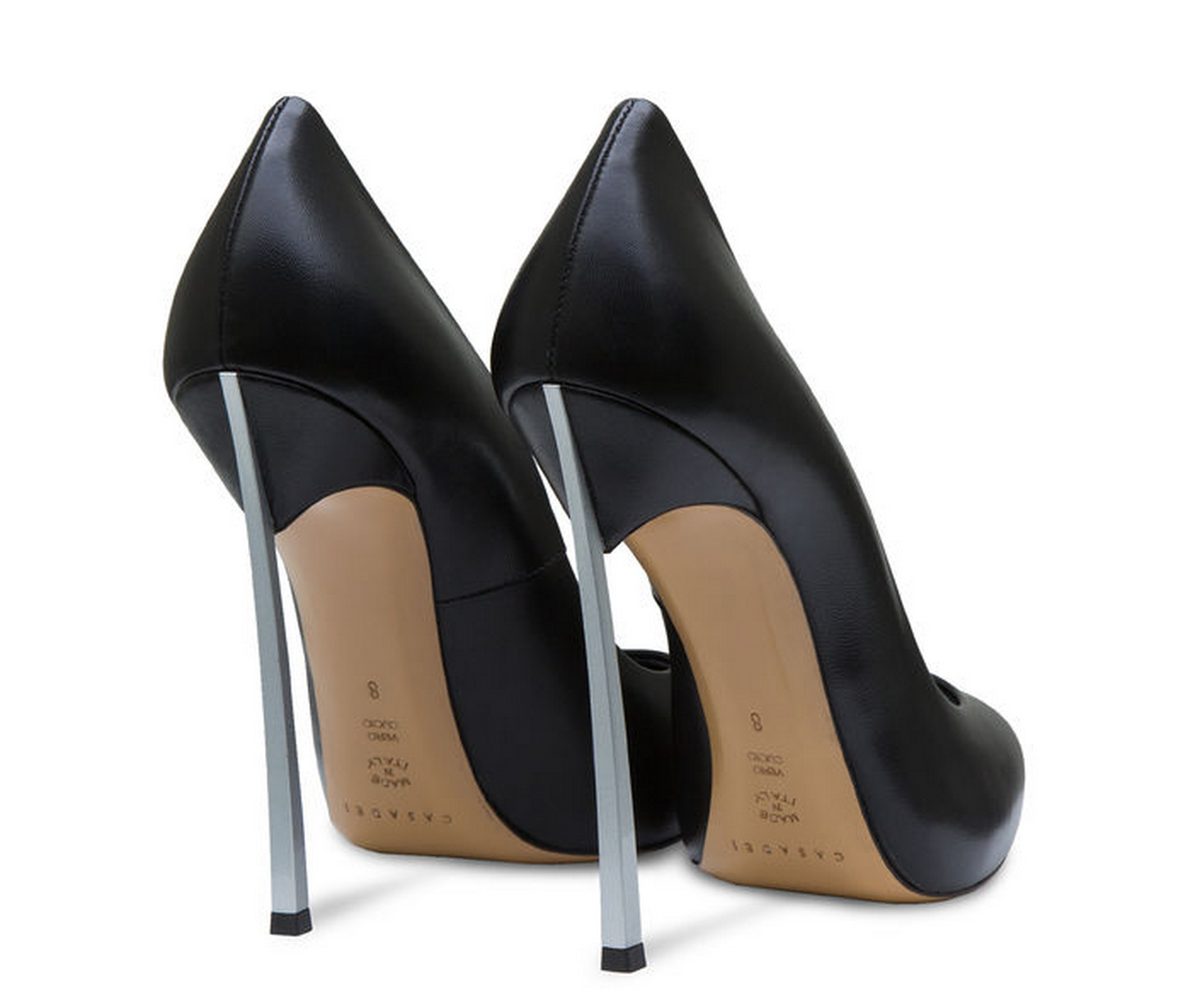 The Casadei blade pump is known for its razor sharp blade heel.  Photo courtesy of Casadei.