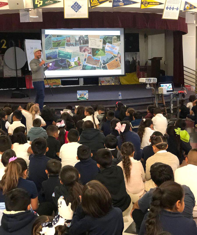 Visit to Edenvale Elementary School, San Jose, CA.