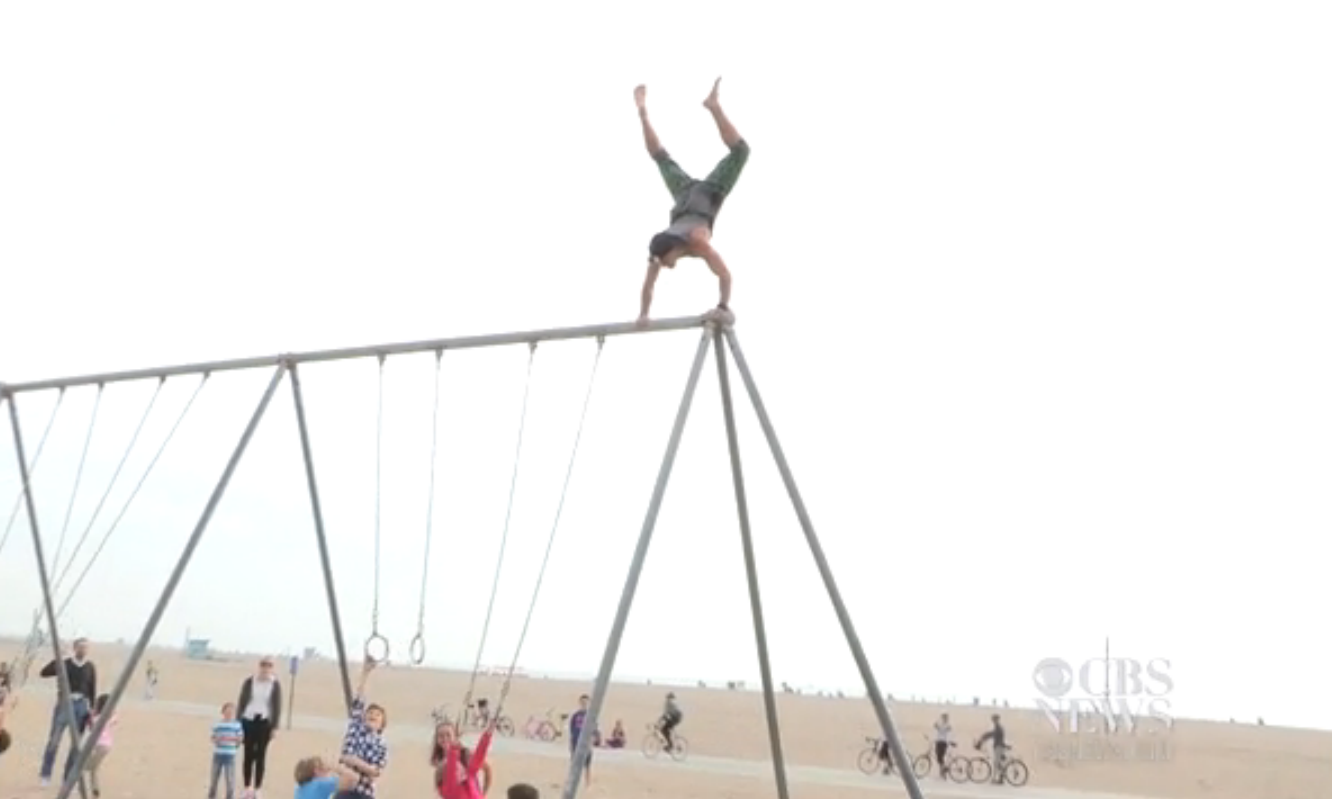Get fit and Conquer your fears with parkour — CBS NEWS