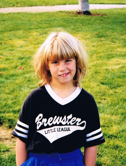 1997. Playing little league with boys and girls.