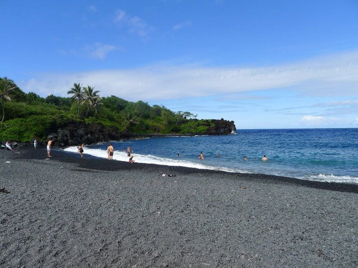 Black Sand Beach on the Road to Hana, Maui
