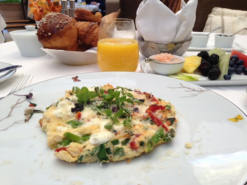 Breakfast at Hotel Bel-Air in L.A.