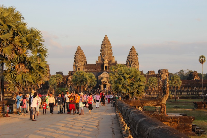 Last big trip of 2013 - Cambodia! Angkor Wat at sunset