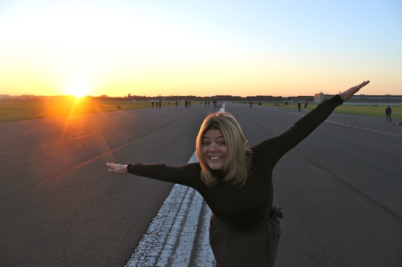 Sunset at Berlin's former Tempelhof Airport - now a city park!