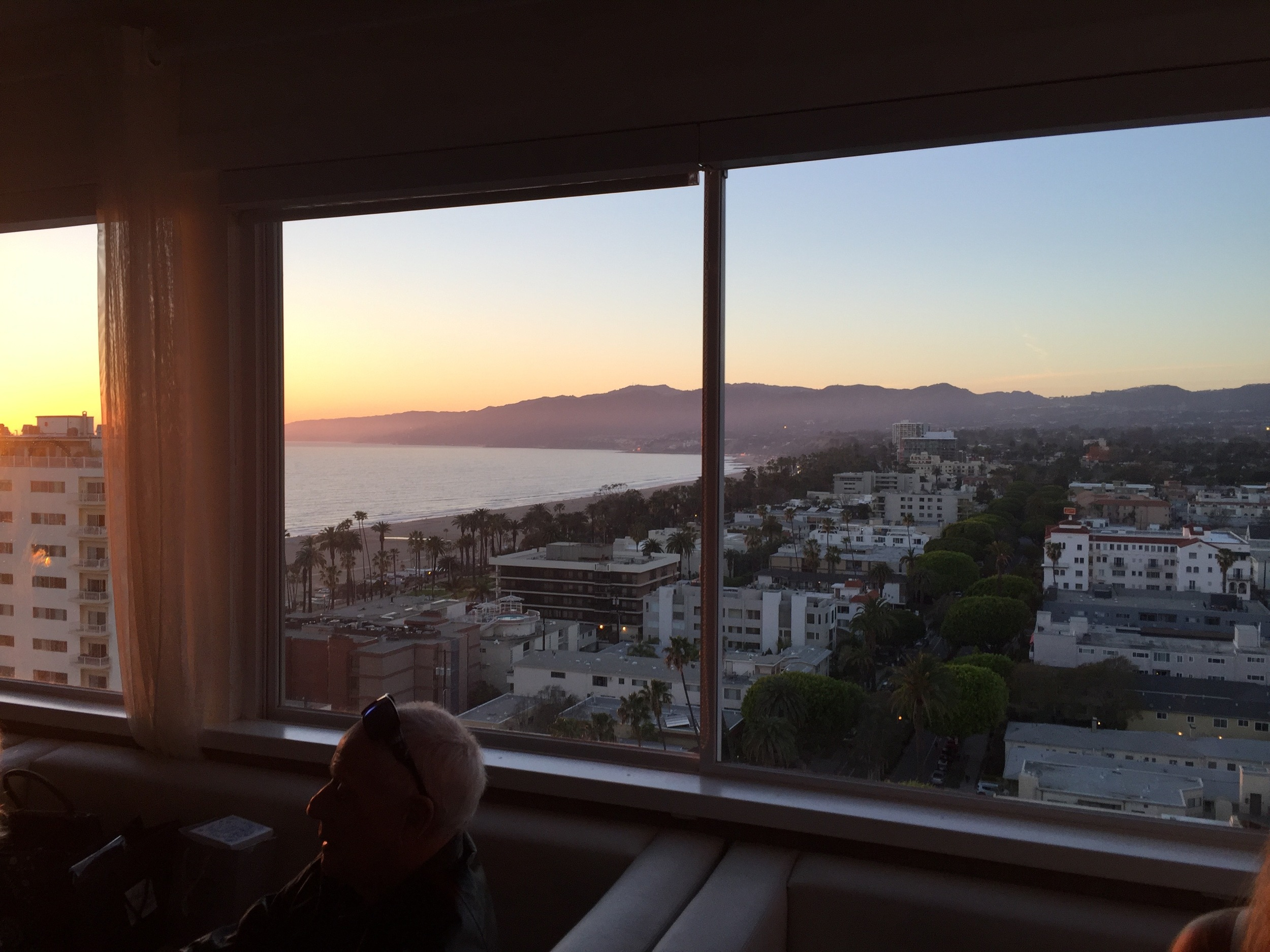 You're indoors but the sunset is pretty incredible at The Huntley in Santa Monica