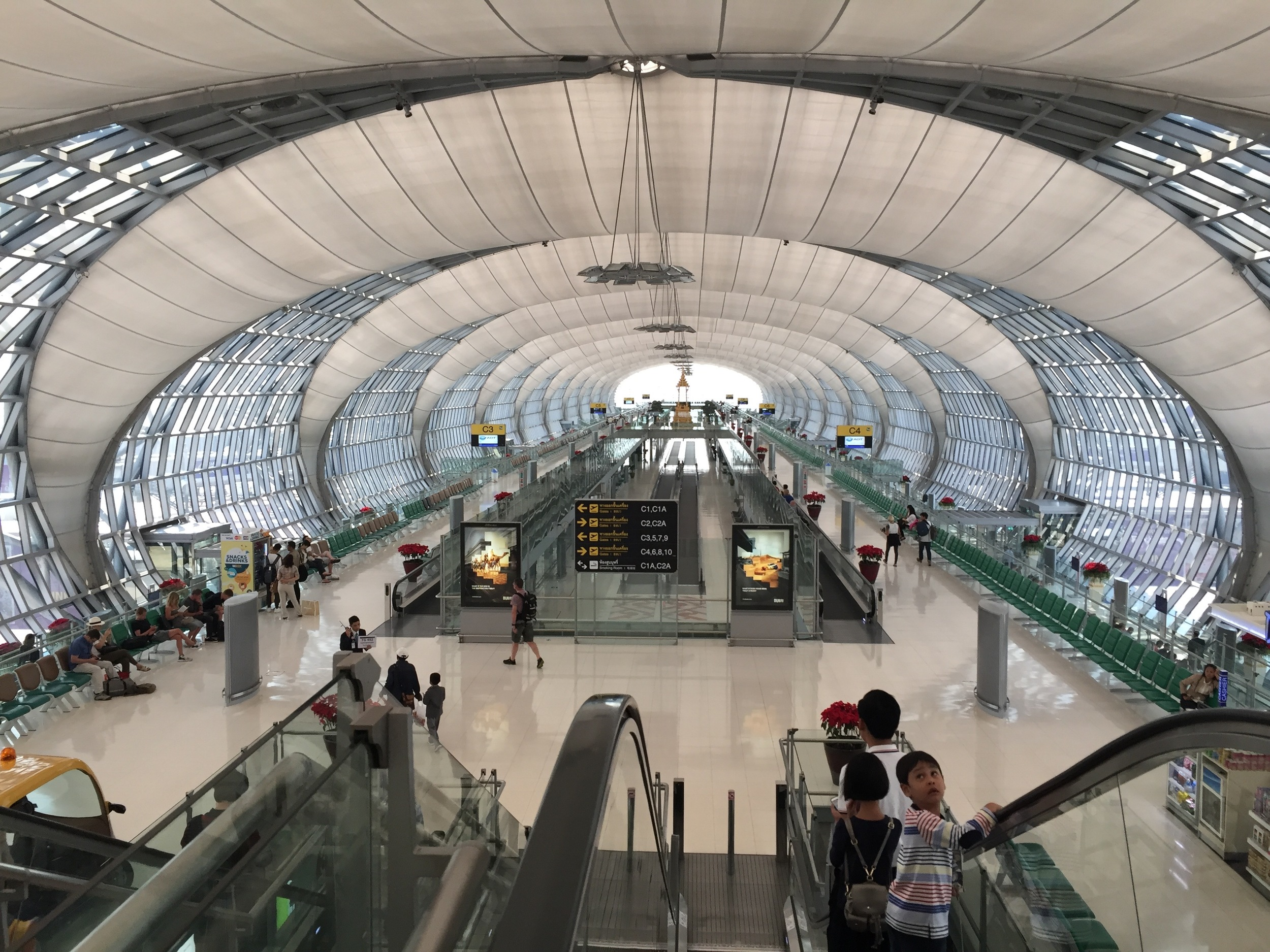 I loved Bangkok's airport. On our way to Myanmar!