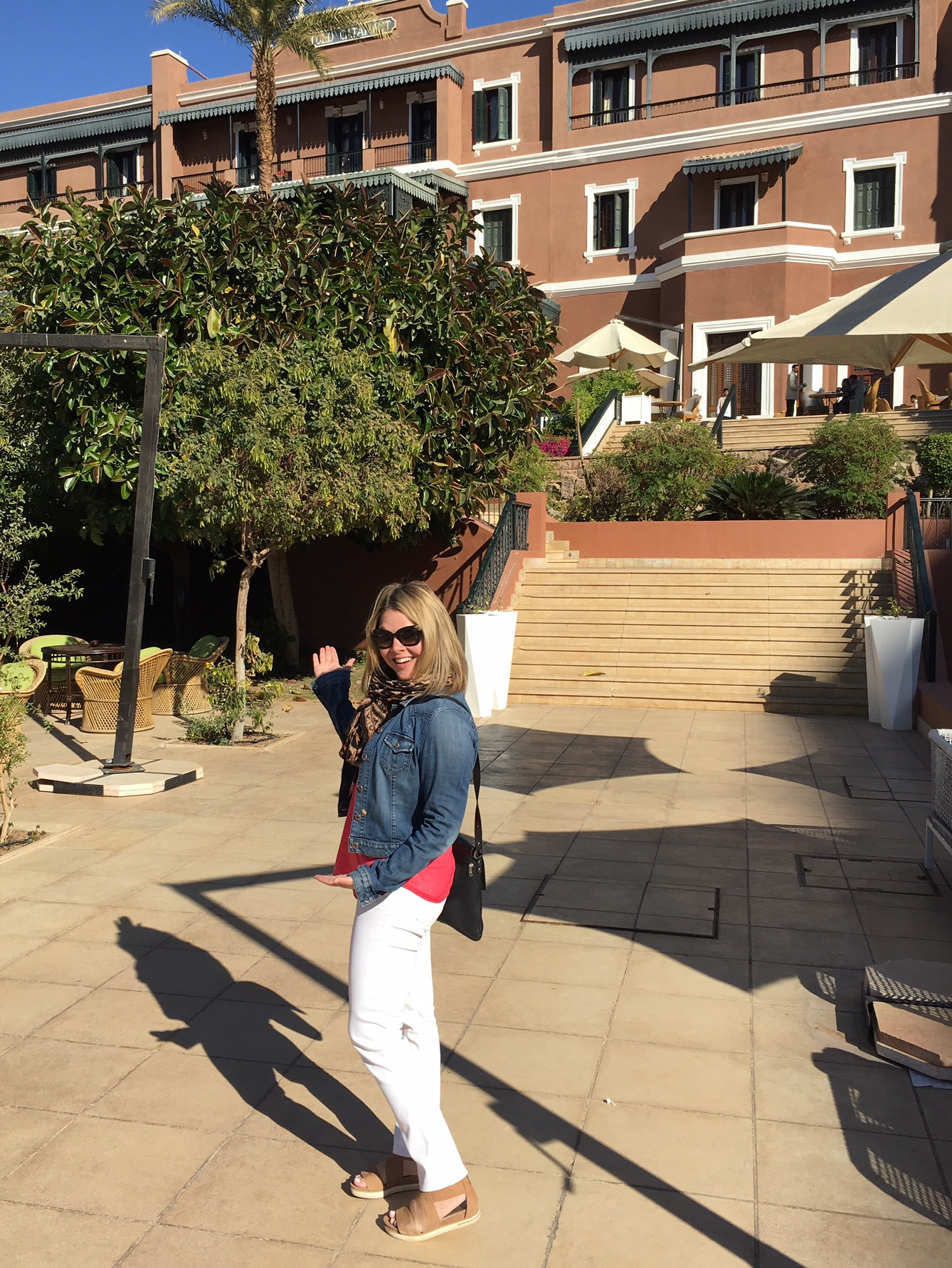 At the Sofitel Legend Old Cataract hotel in Aswan