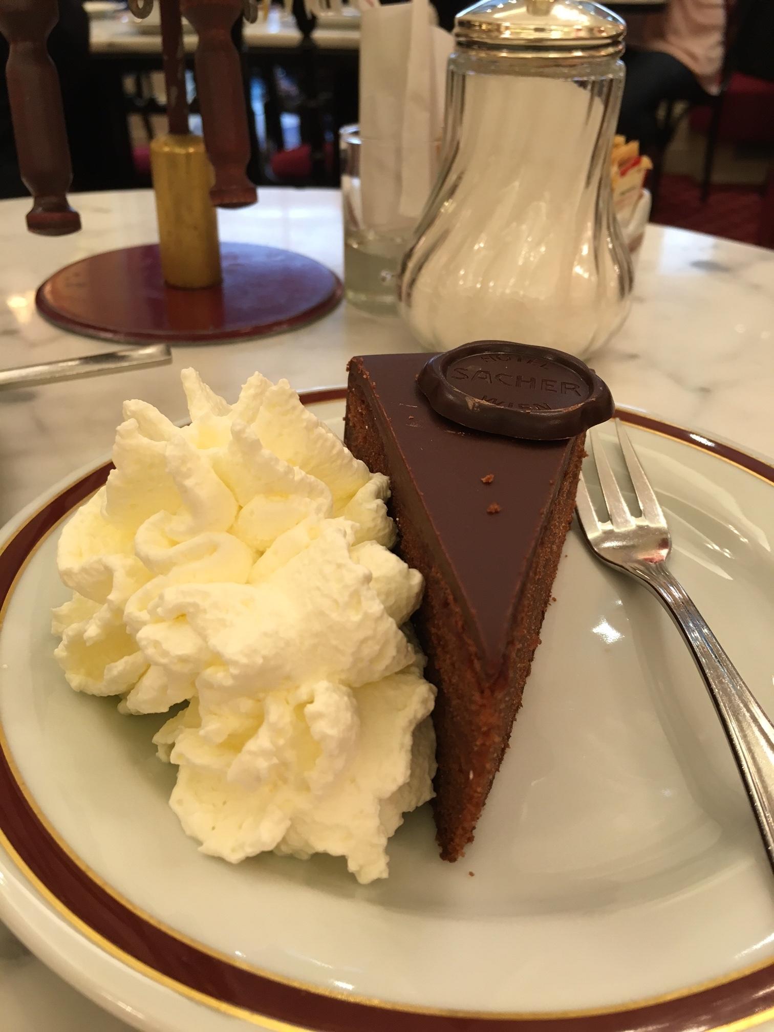 My favorite cake in the world - Original Sacher-Torte in Vienna!