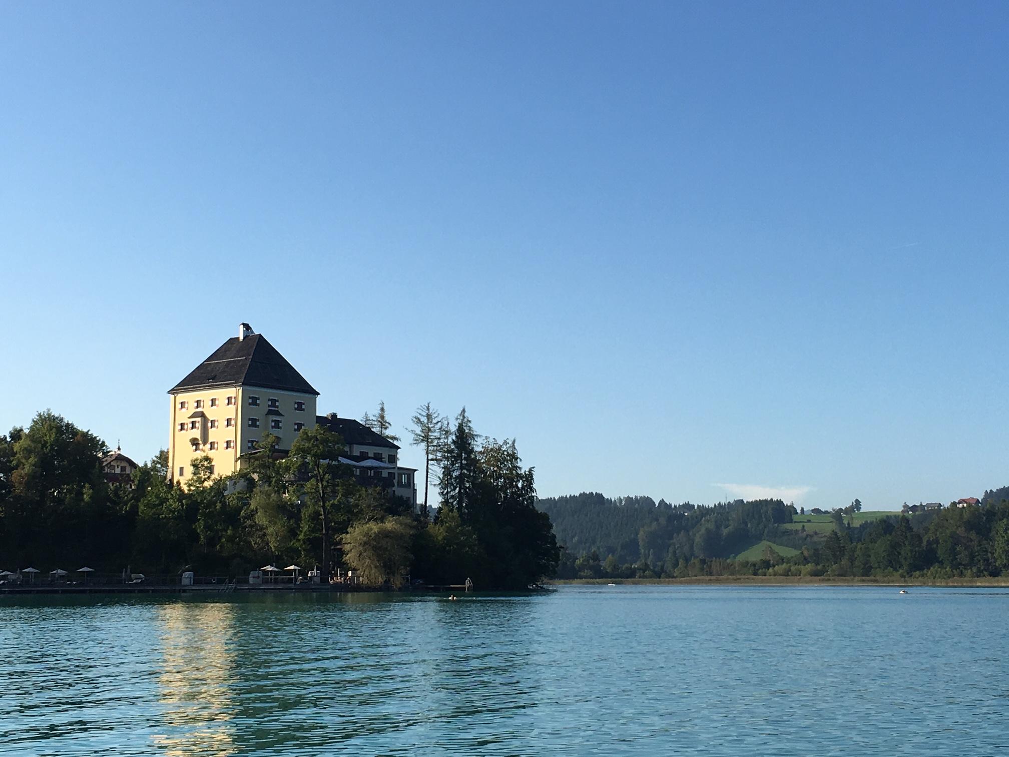 The beautiful Schloss Fuschl hotel outside of Salzburg, Austria