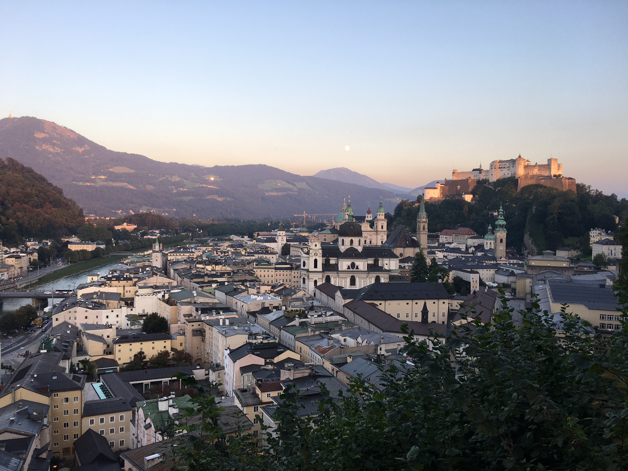 Sunset in Salzburg