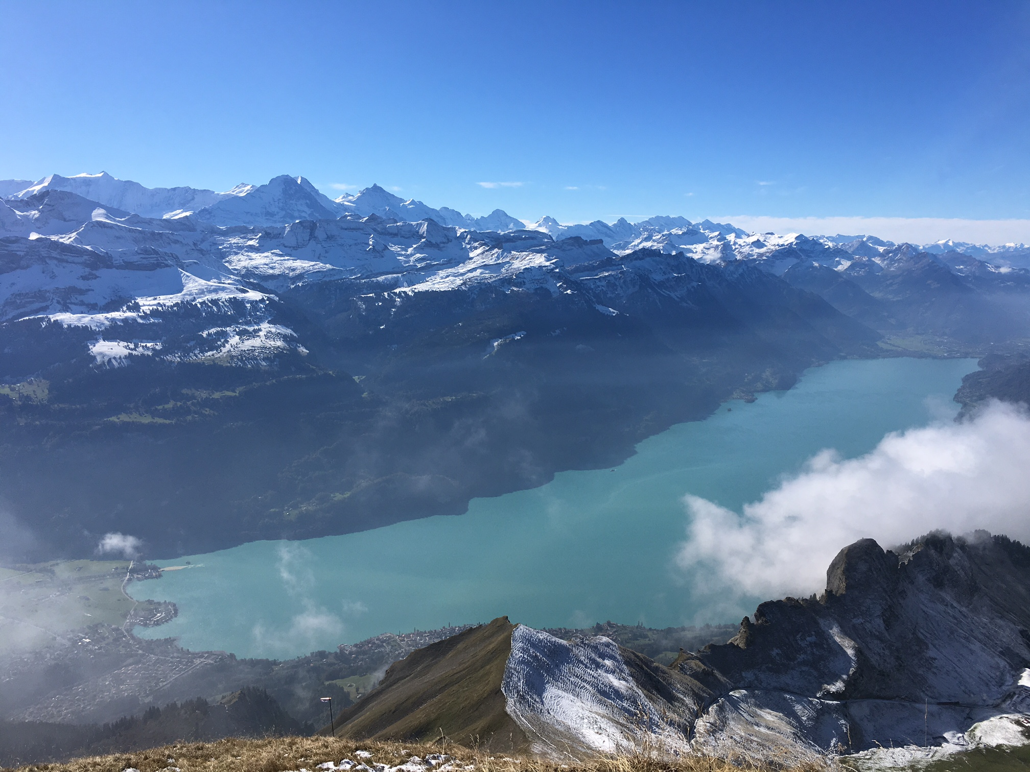 WOW view from the Rothorn in Switzerland