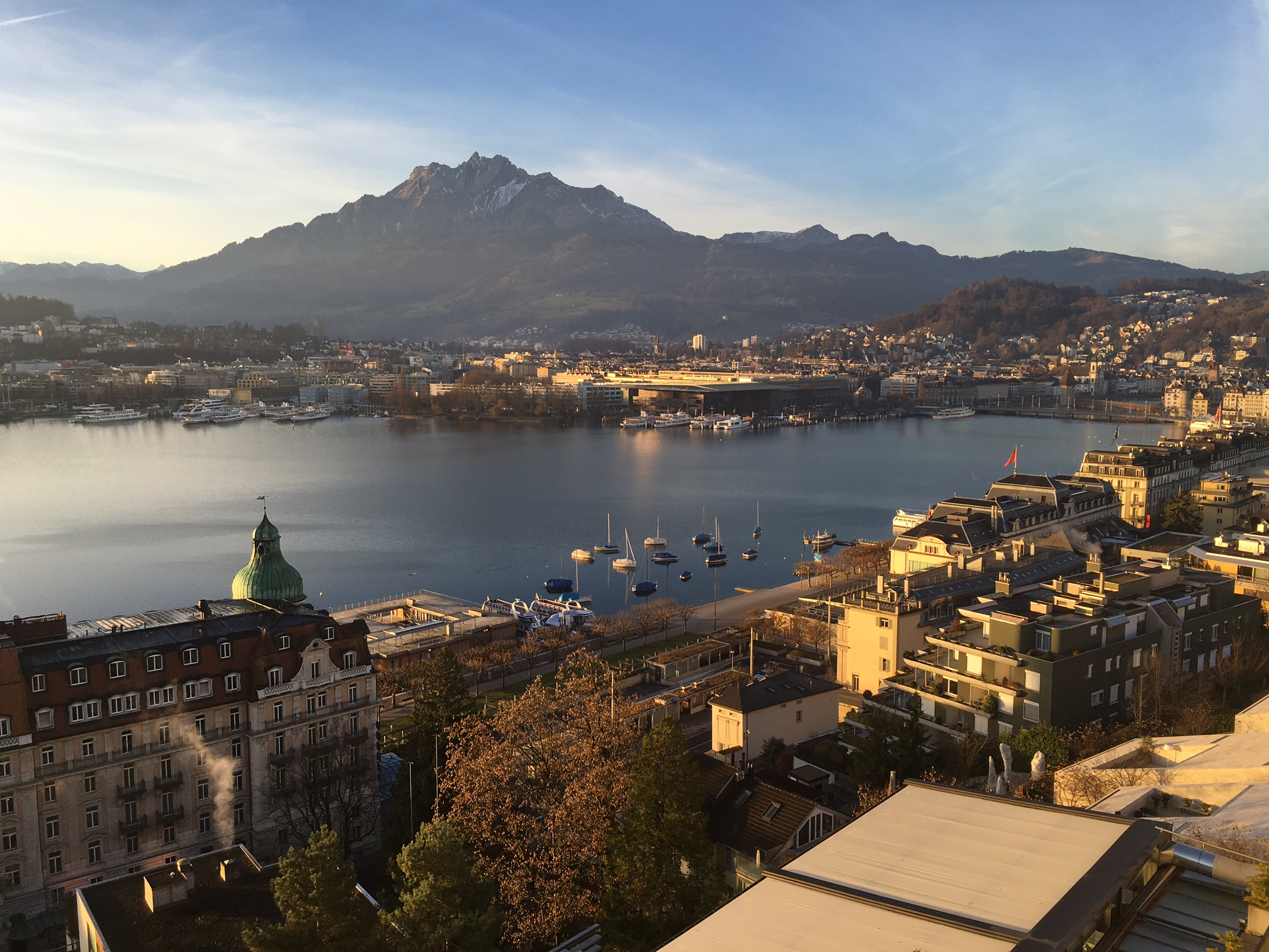 Christmas Day - Art Deco Hotel Montana, Lucerne