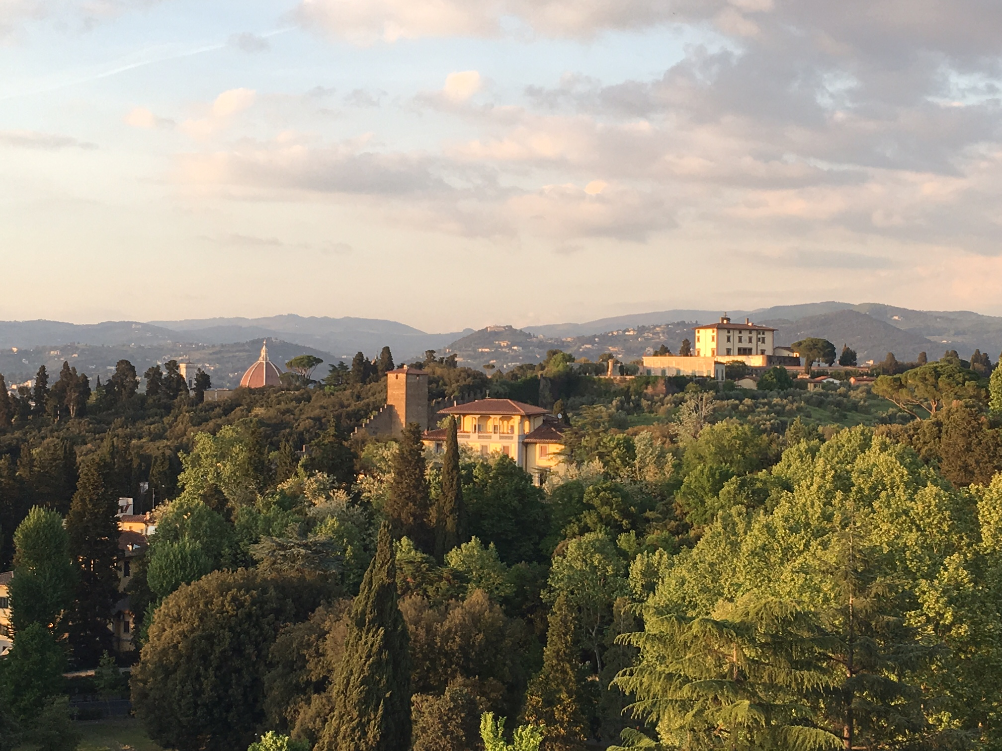 View from Villa Cora's rooftop - Florence