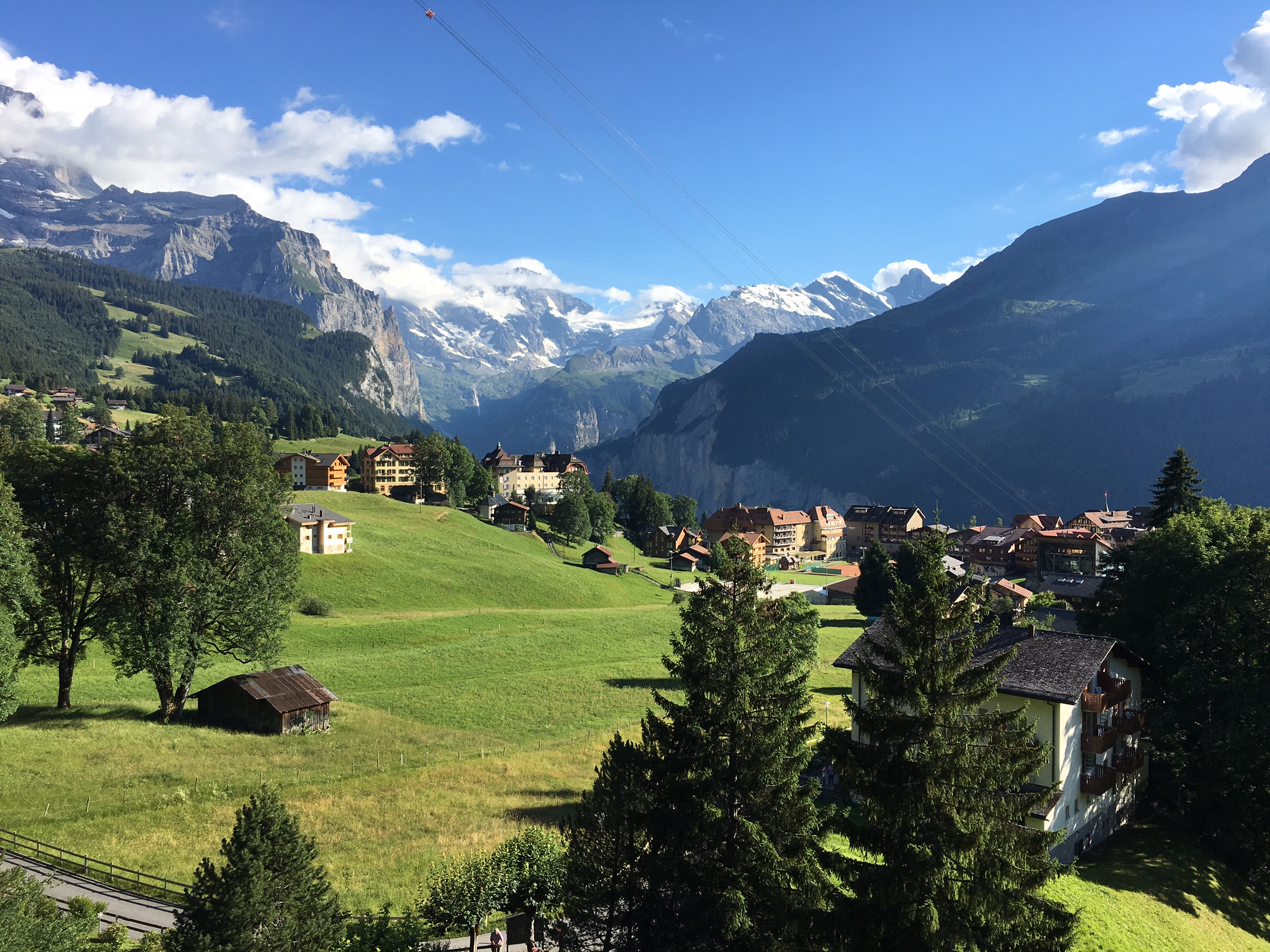 View from the Beausite Park Hotel, Wengen.