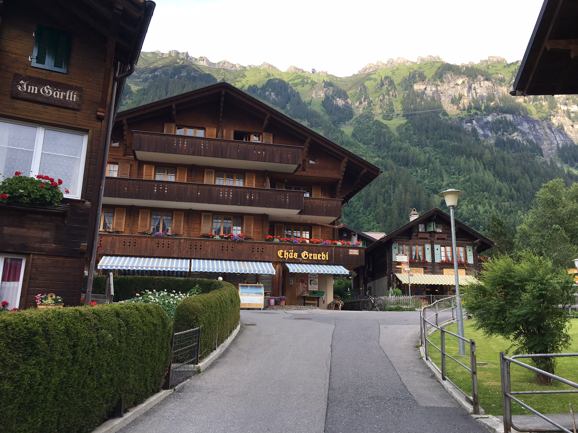 The Chäs Gruebi shop in Wengen (on the way back to the Beausite Park Hotel).