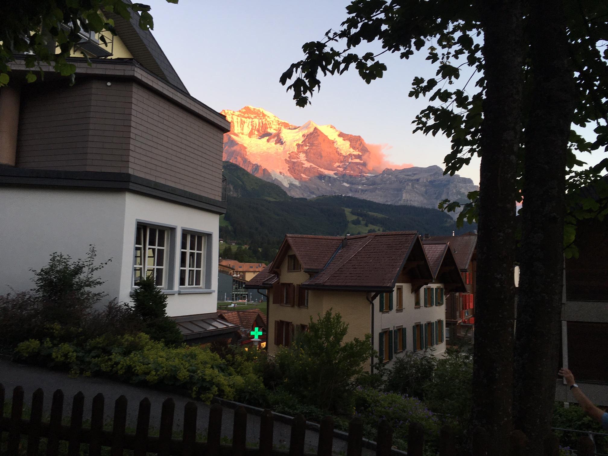The Jungfrau ablaze near Da Sina.
