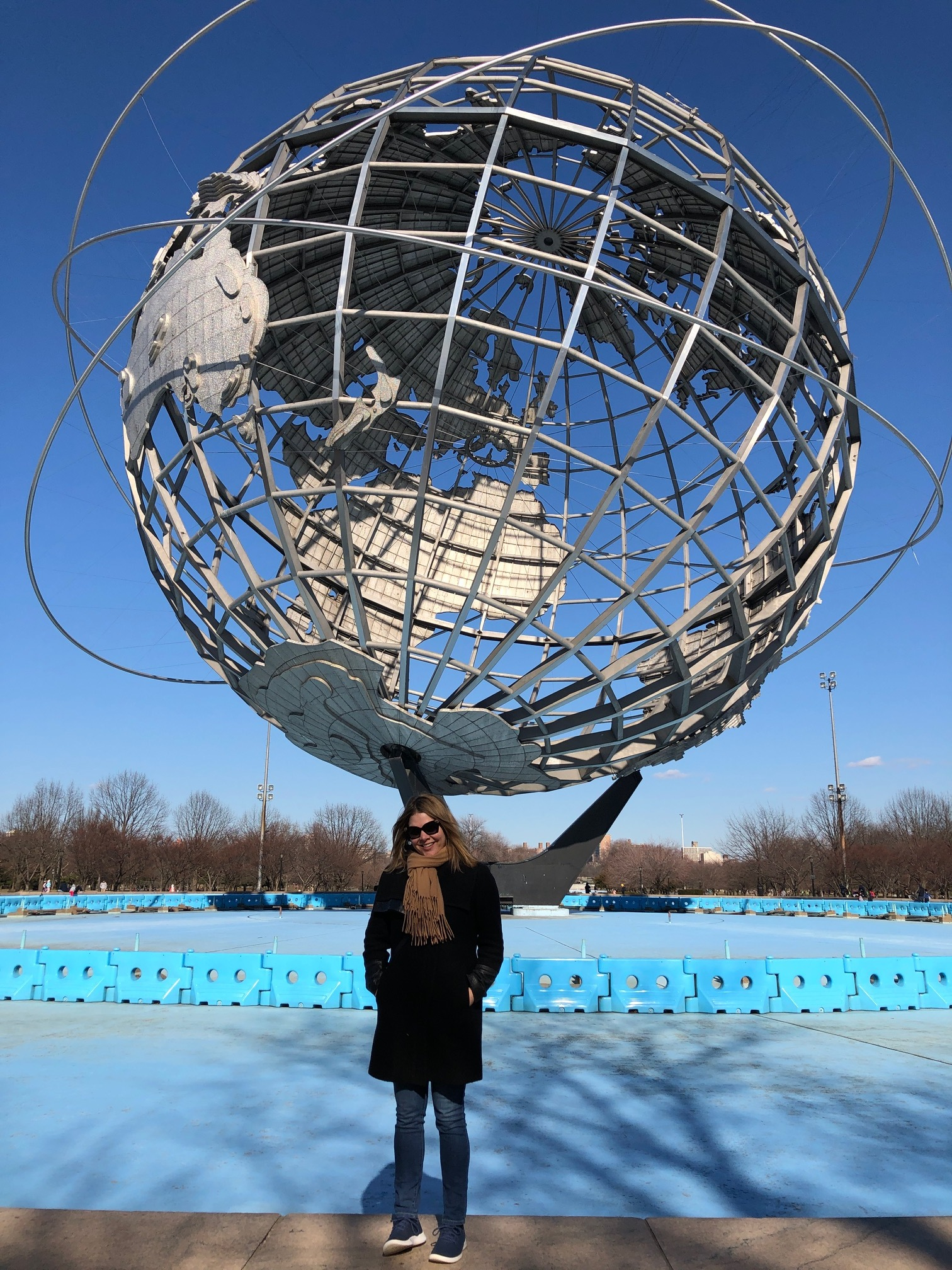 The Unisphere, built for the 1964 World's Fair.