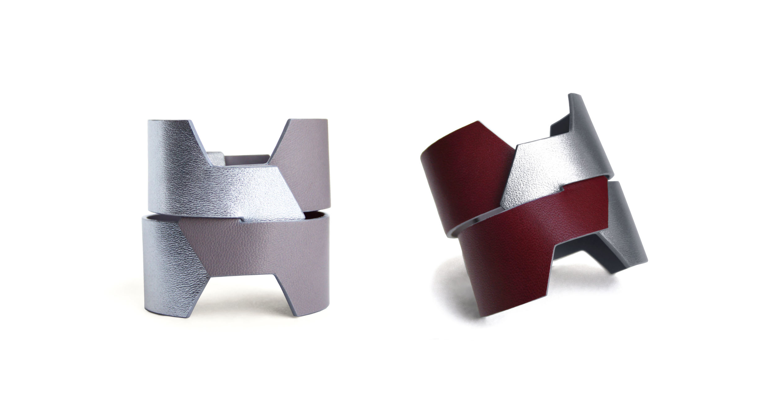 MADO - luxury leather cuff - handmade in Paris - Camille Roussel