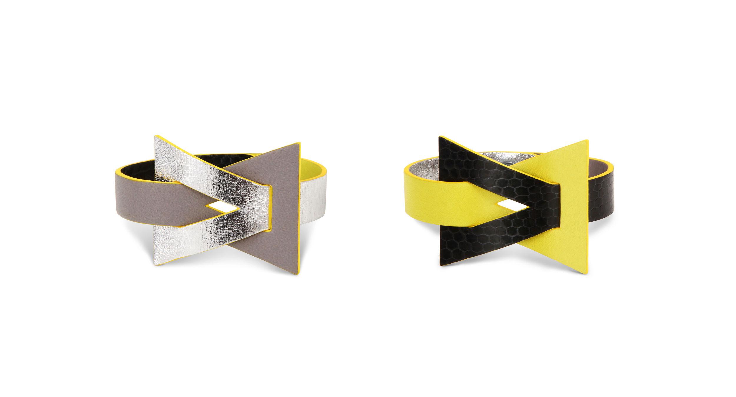ISIS - bracelet en cuir exotique réversible -Camille Roussel