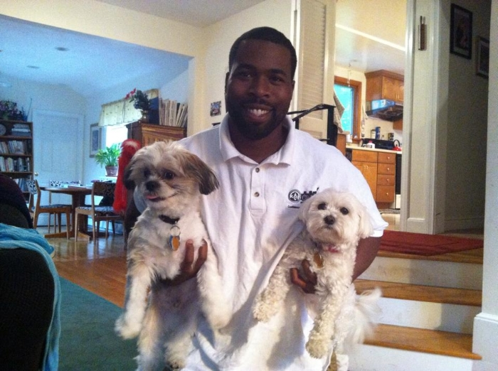 Coach with two friends, Bentley and Coco