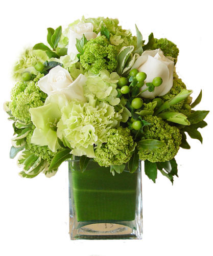 Apple Blossom S White And Green Ensemble Bouquet By Apple Blossom Florist Oakland Florist Flower Delivery By Apple Blossom Florist Oakland