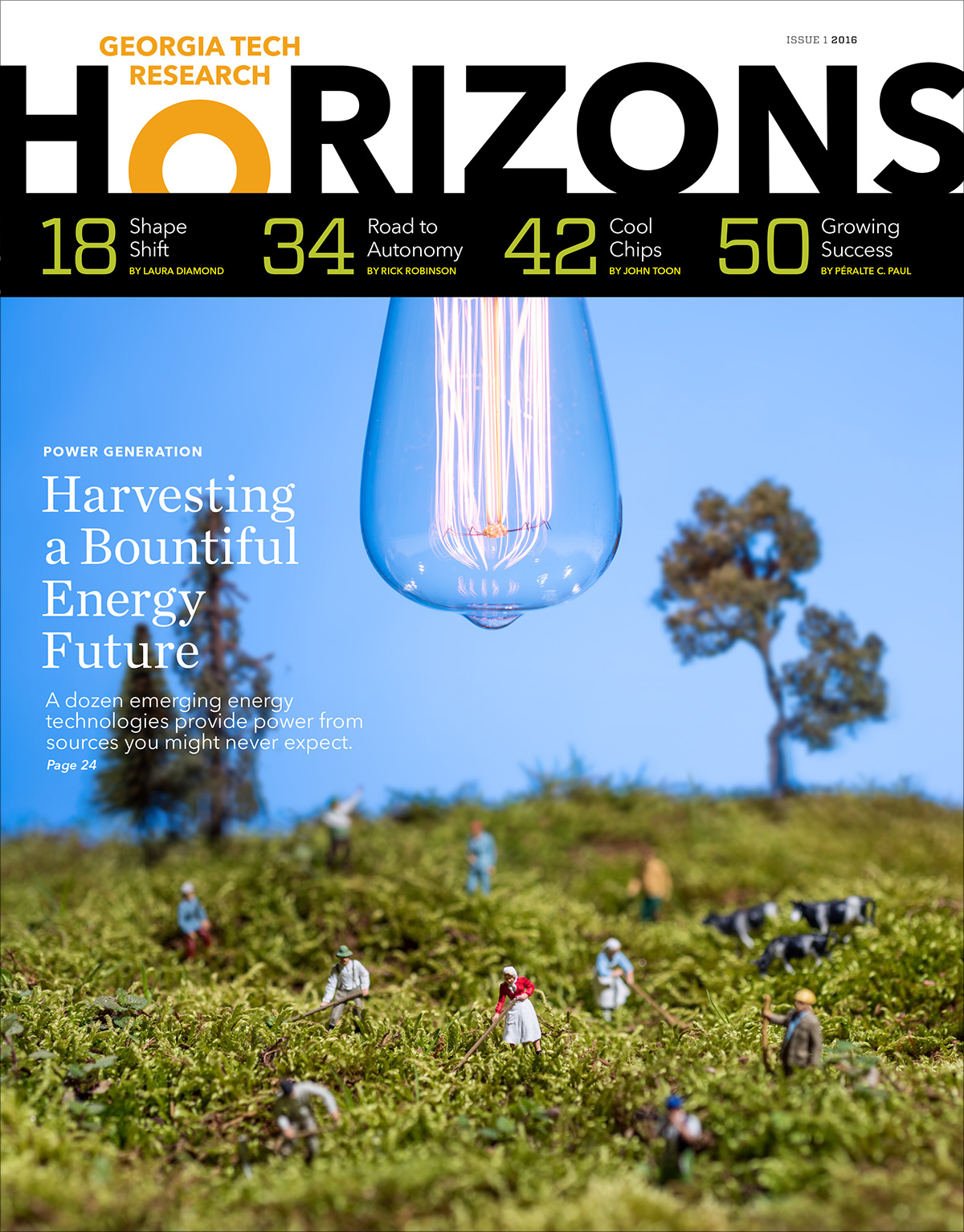 Cover of Spring 2016 issue of Research Horizons Magazine