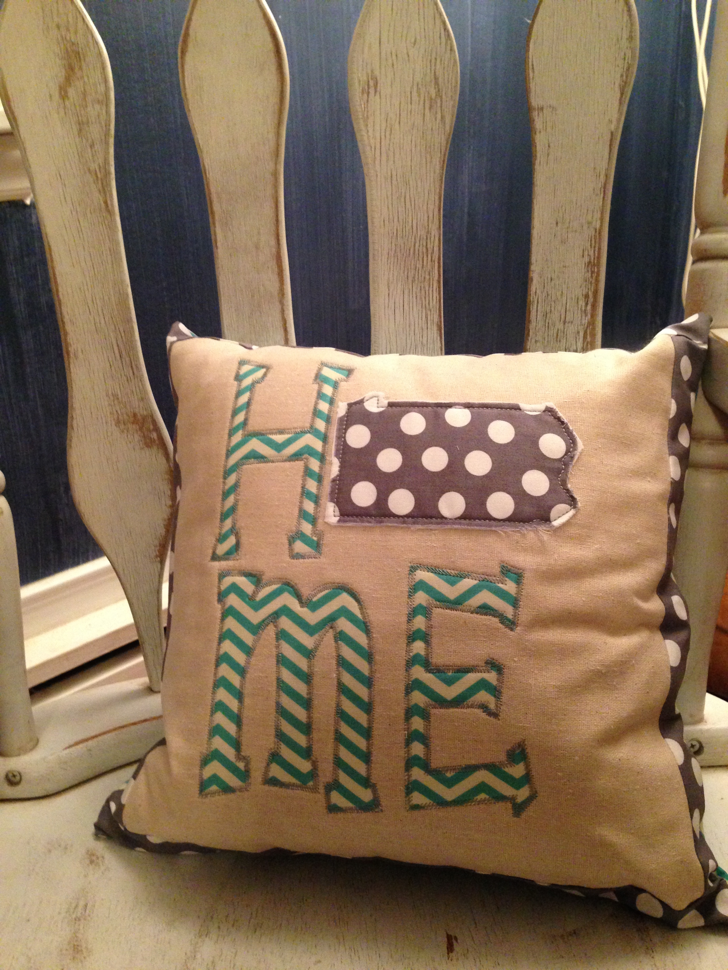 What's that? One adorable hand made pillow isn't enough? You want ANOTHER one? Well, all right then, here you go.