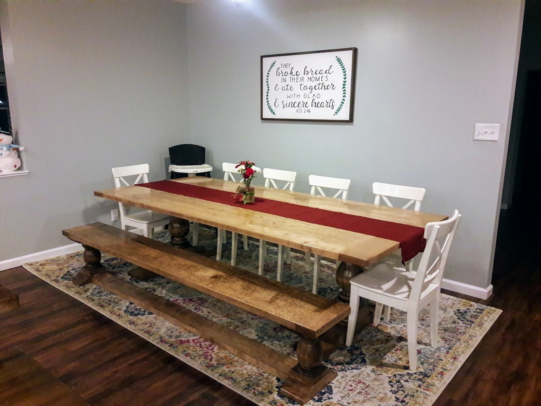 Trestle dining set