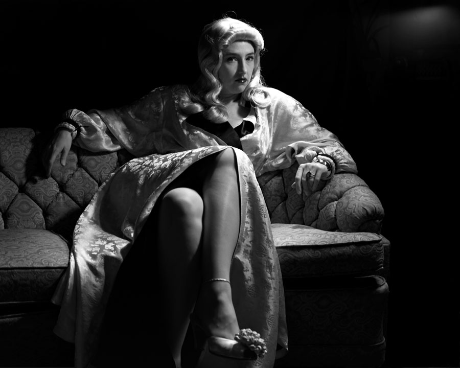 As Barbara Stanwyck in 'Double Indemnity'