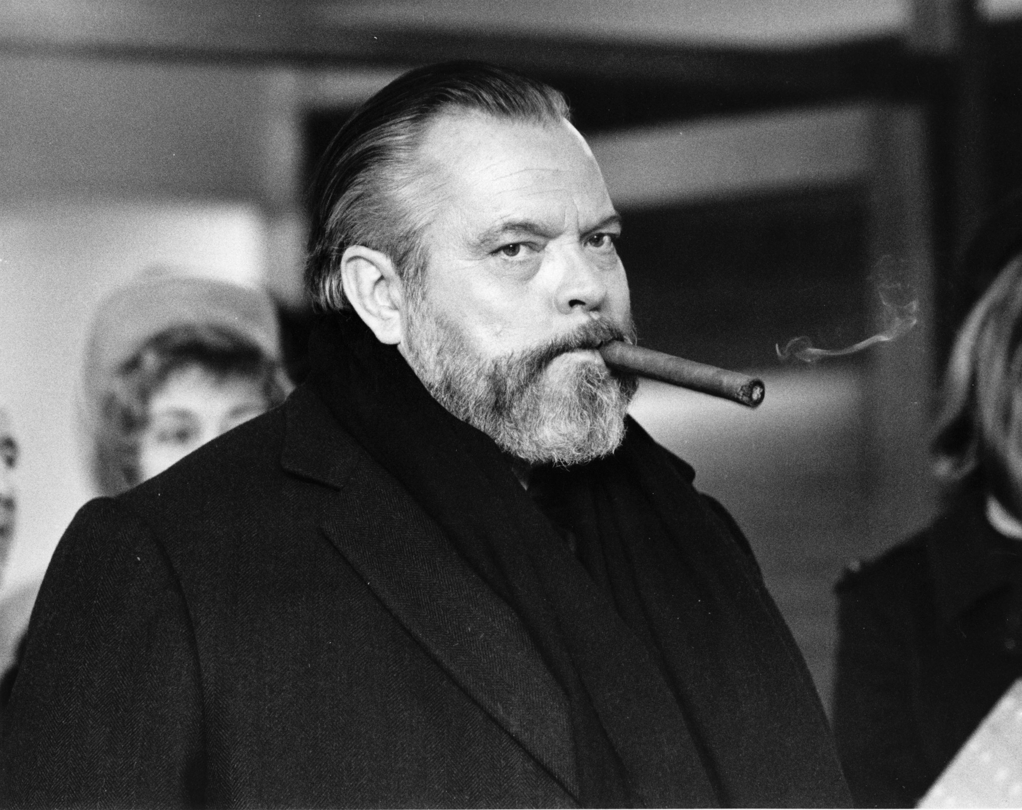 Orson Welles on the set of  The Other Side of the Wind