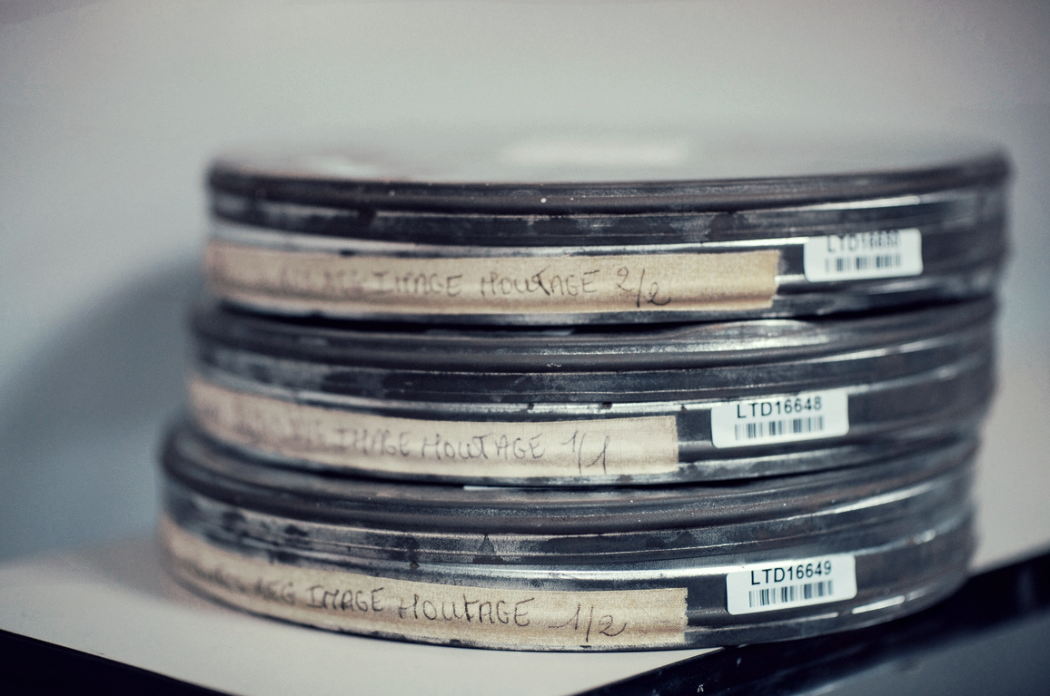Film cans containing the negative of Orson Welles' last film