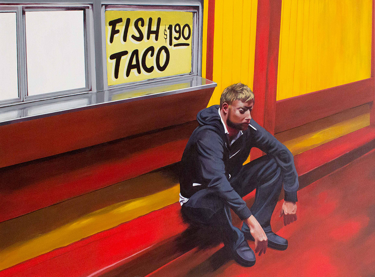 "Fish Taco  - acrylic on canvas 36"" x 48"""