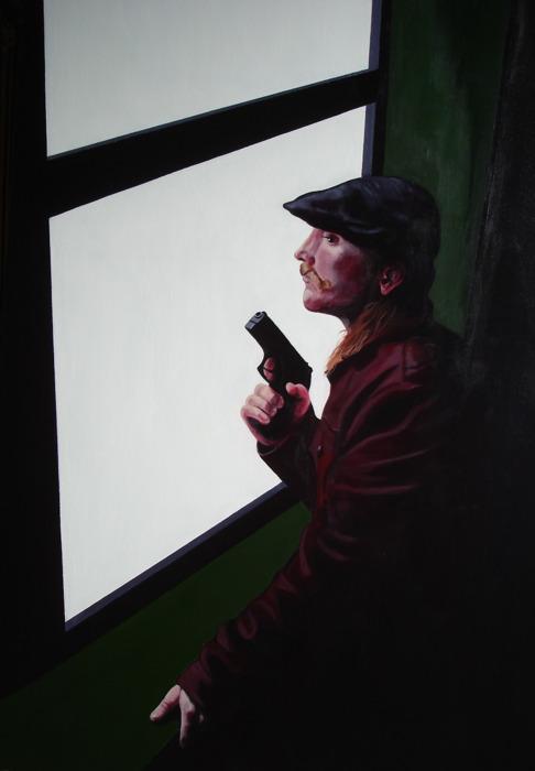 "Crossroads #3  - acrylic on canvas 24"" x ""30"