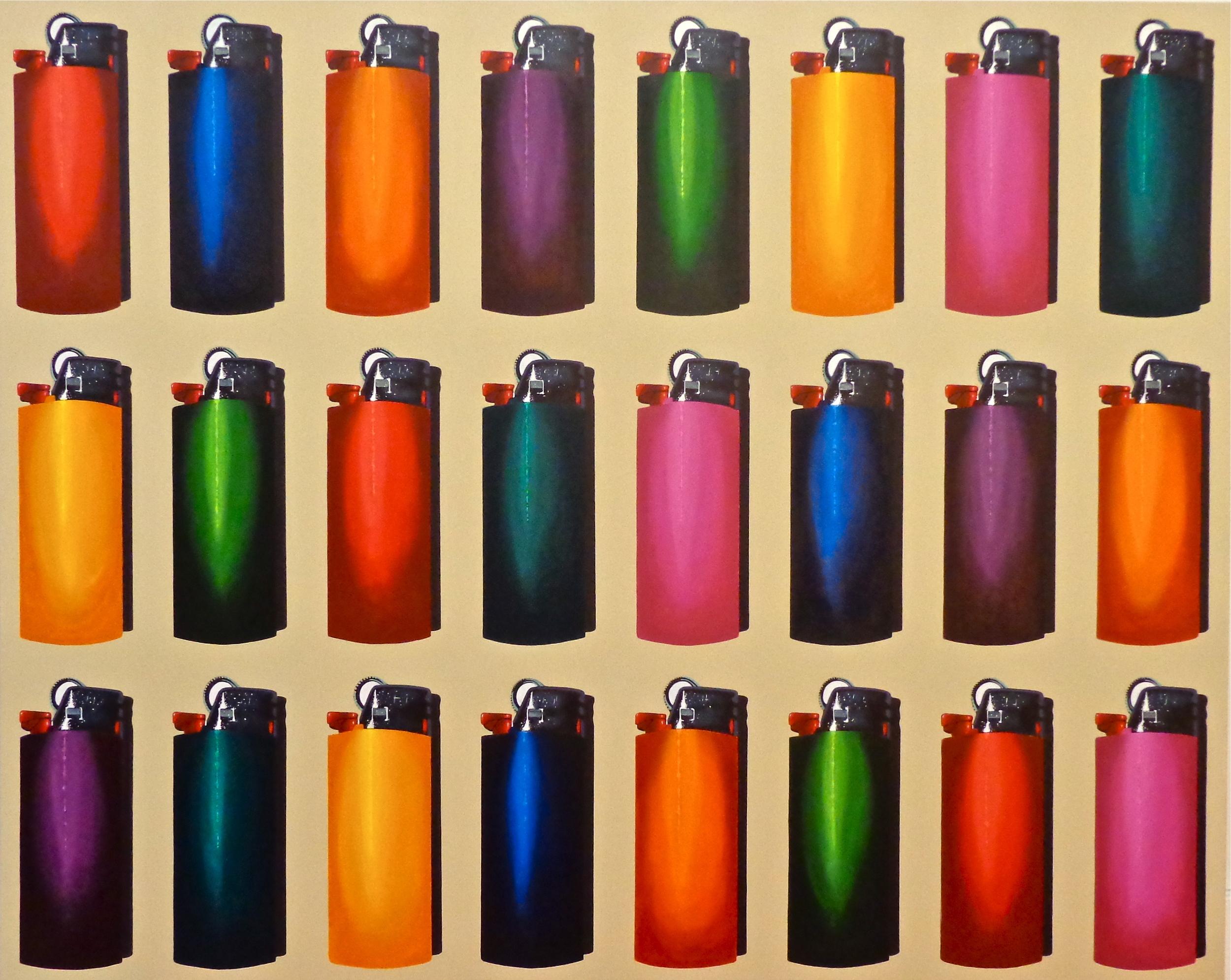 "24 Bics  - acrylic on canvas 48"" x 60"""