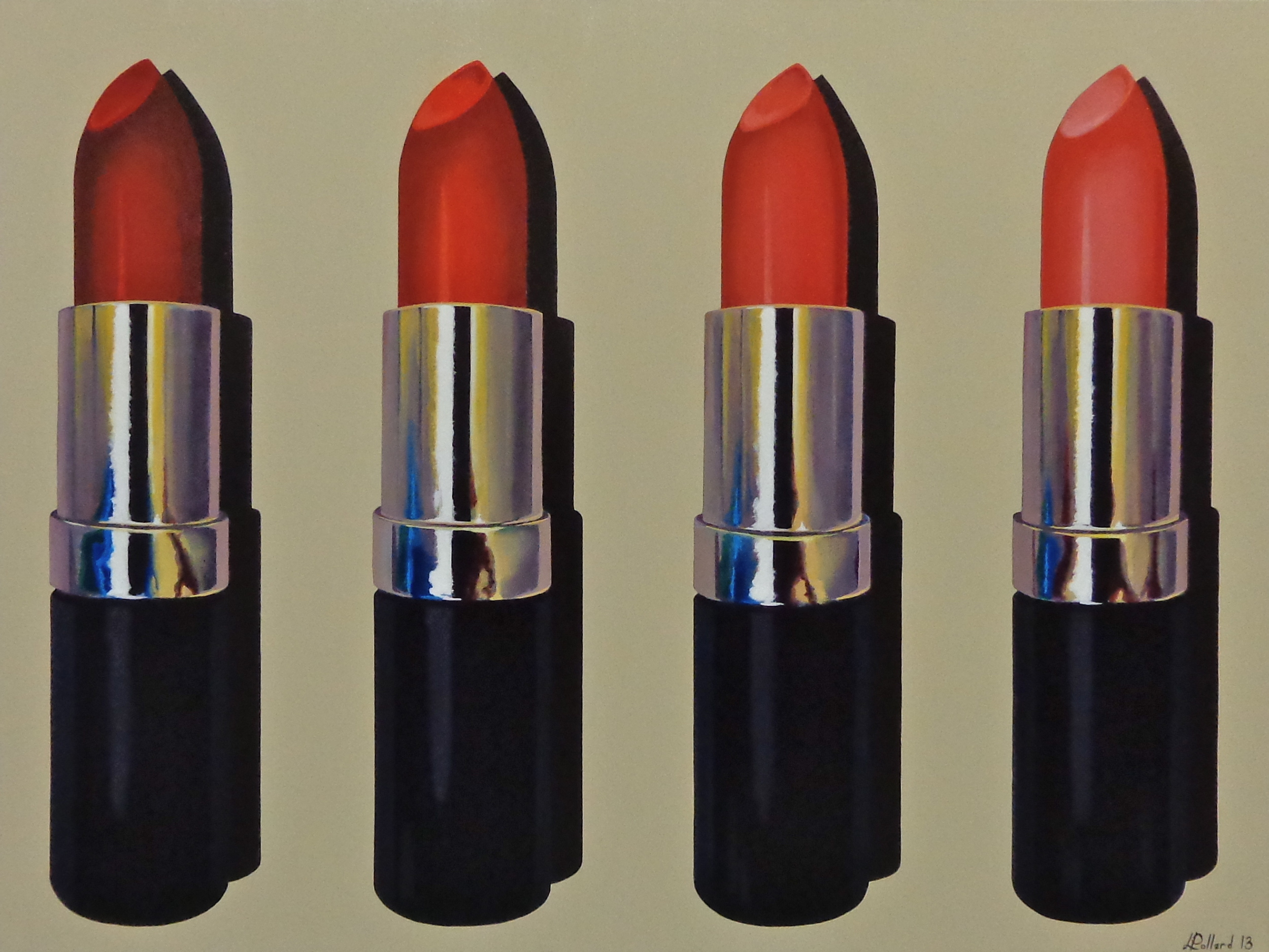 "4 Lipstick  - acrylic on canvas 30"" x 40"""