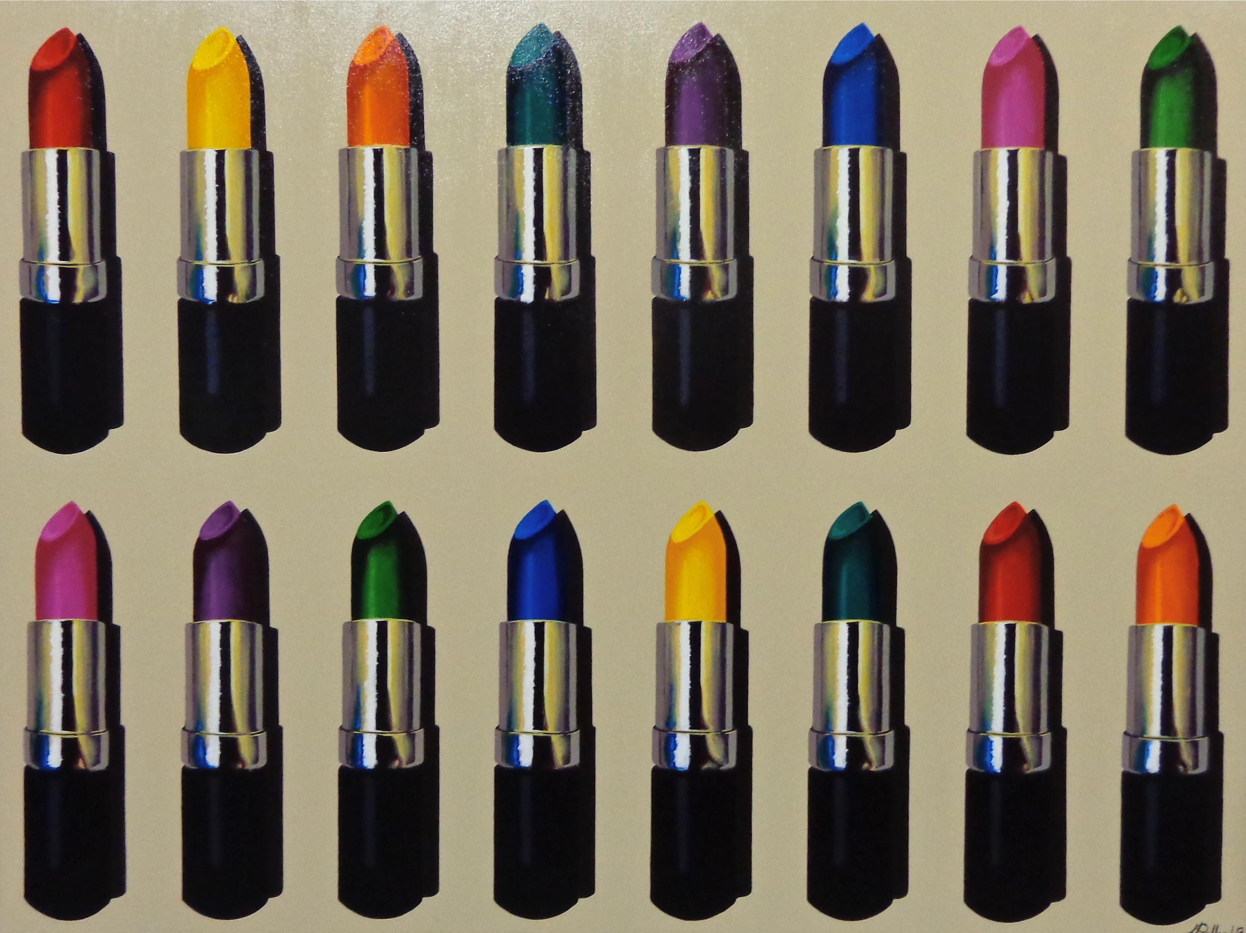 "16 Lipstick  - acrylic on canvas 30"" x 40"""