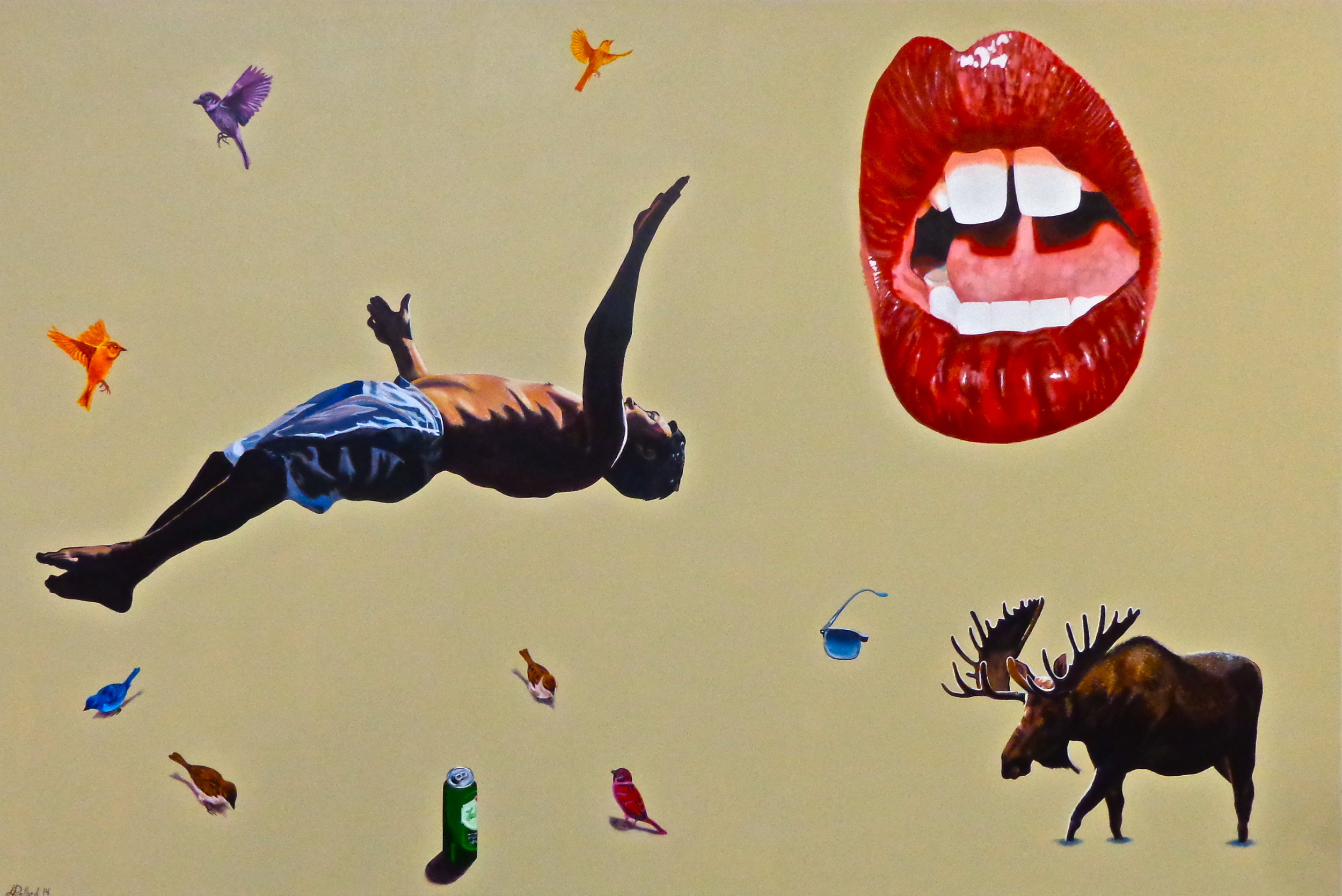 """Last Summer - acrylic on canvas 48"""" x 72"""""""