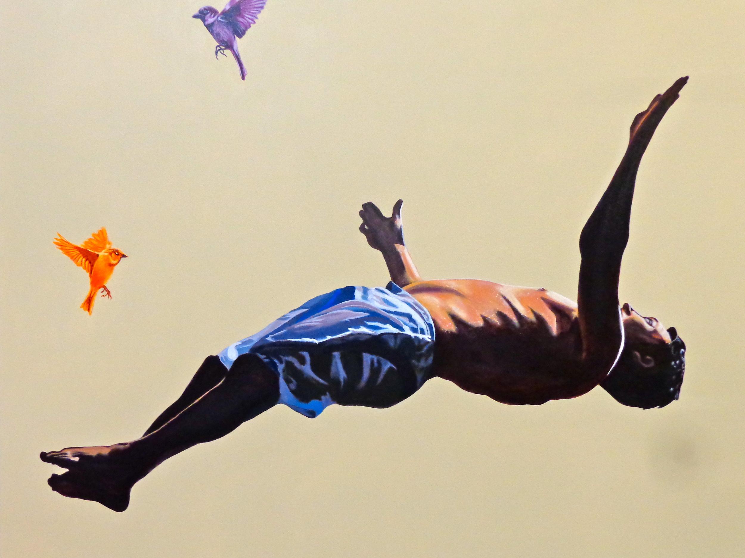 "Last Summer (Detail) - acrylic on canvas 48"" x 72"""